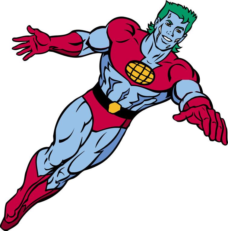 Captain Earth Mascot