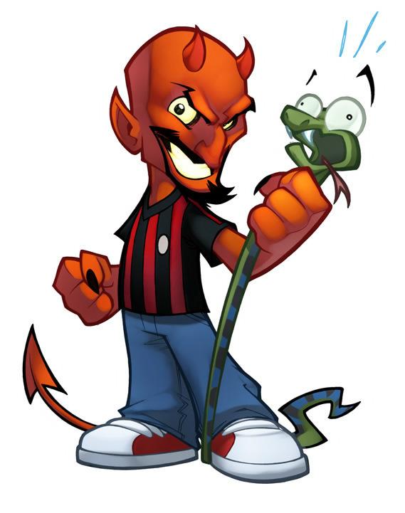 Devil Guy Mascot