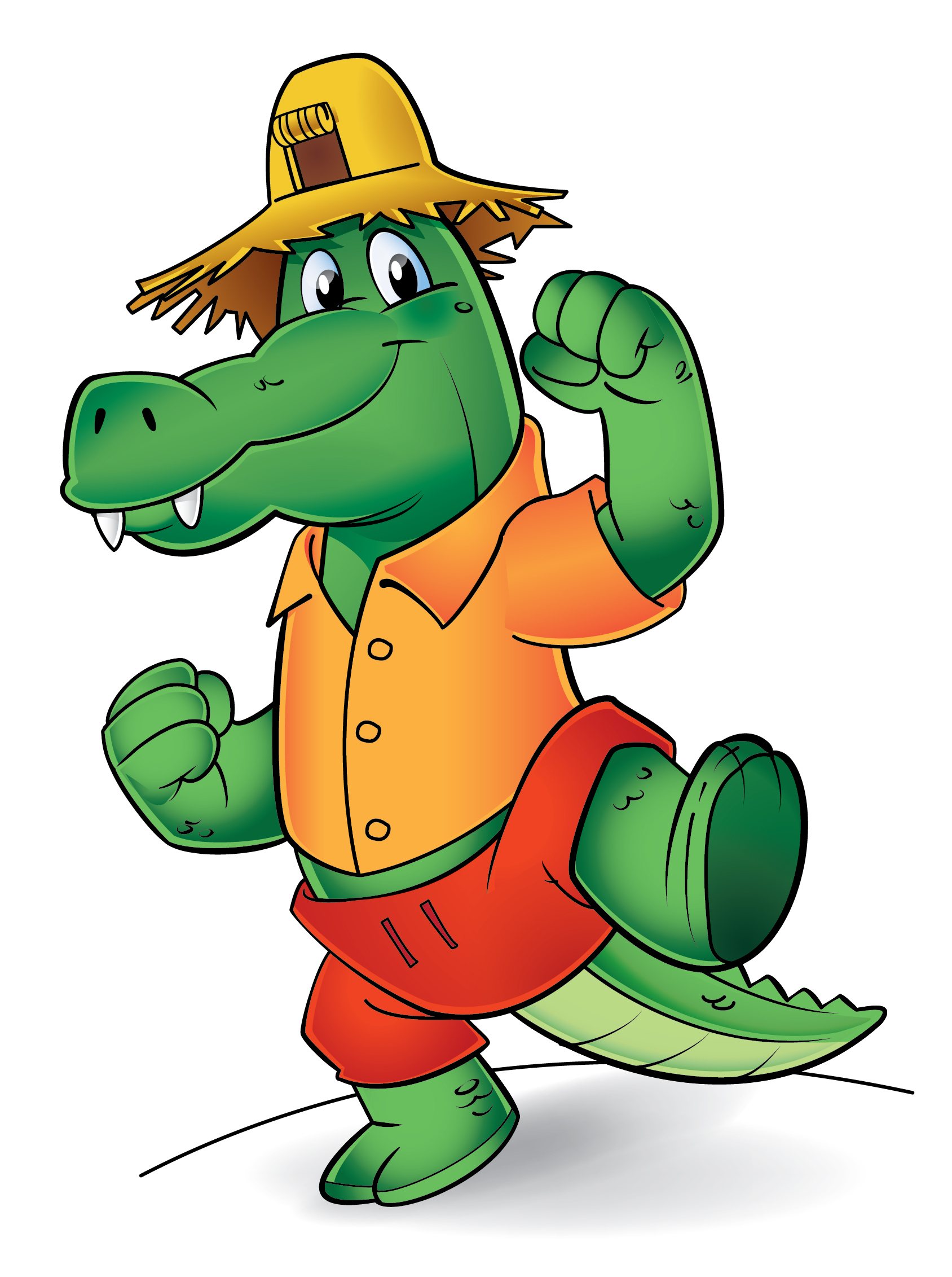 Dancing Crocodile Mascot