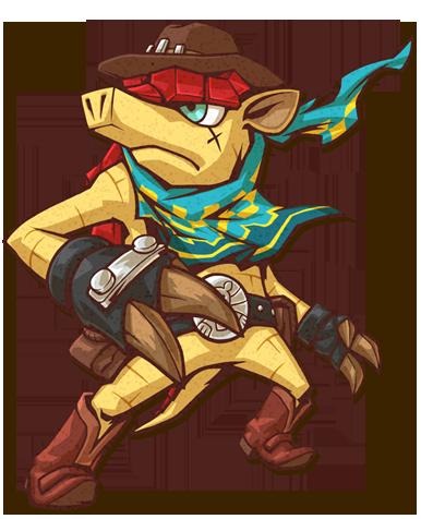 Armadillo Ranger Mascot