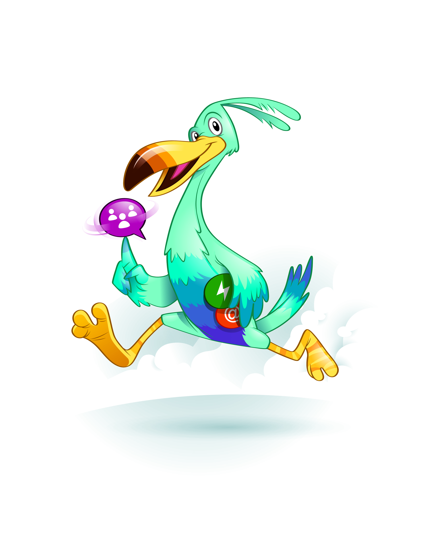Fast Exotic Bird Mascot