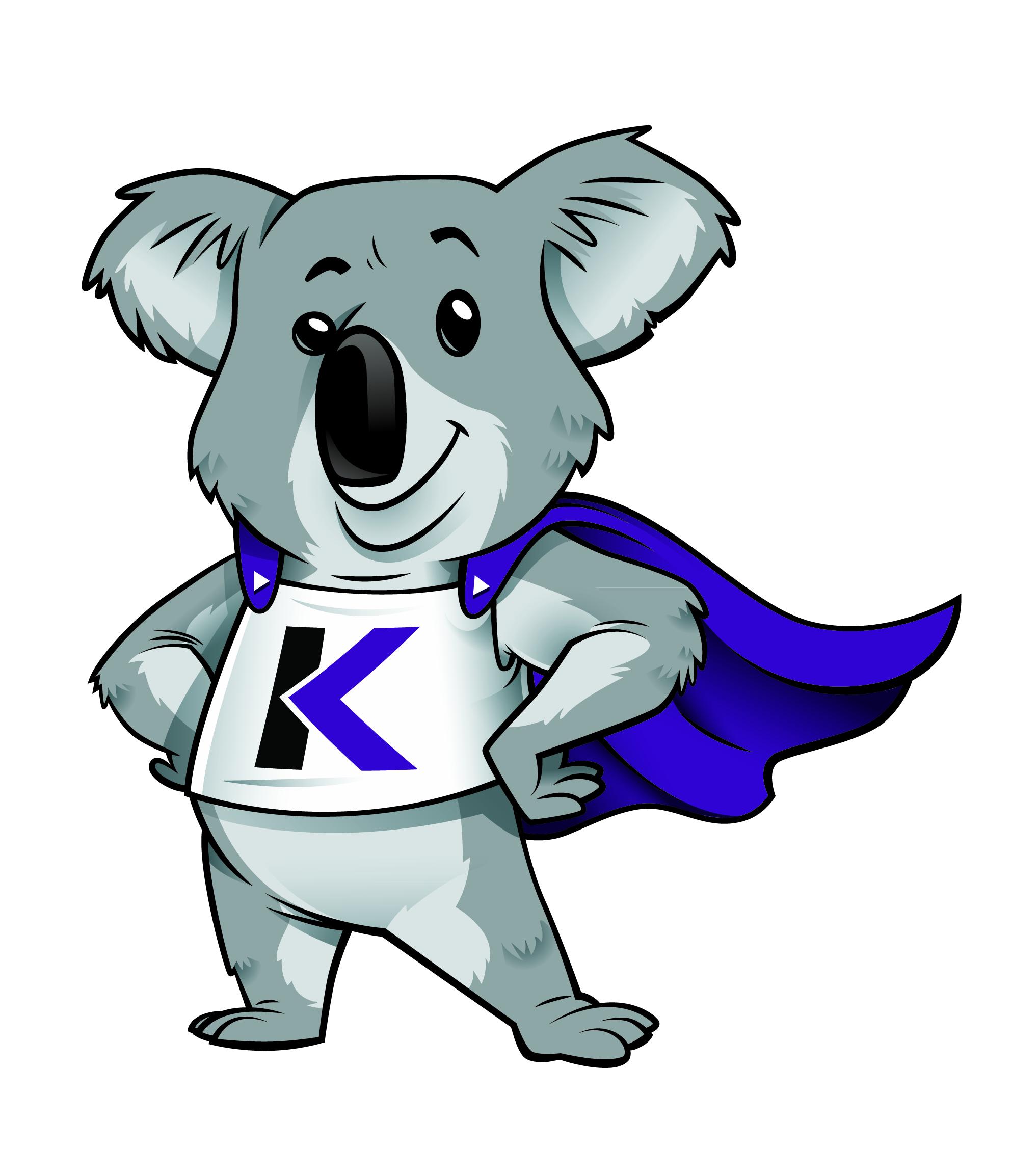 Super Smart Koala Mascot