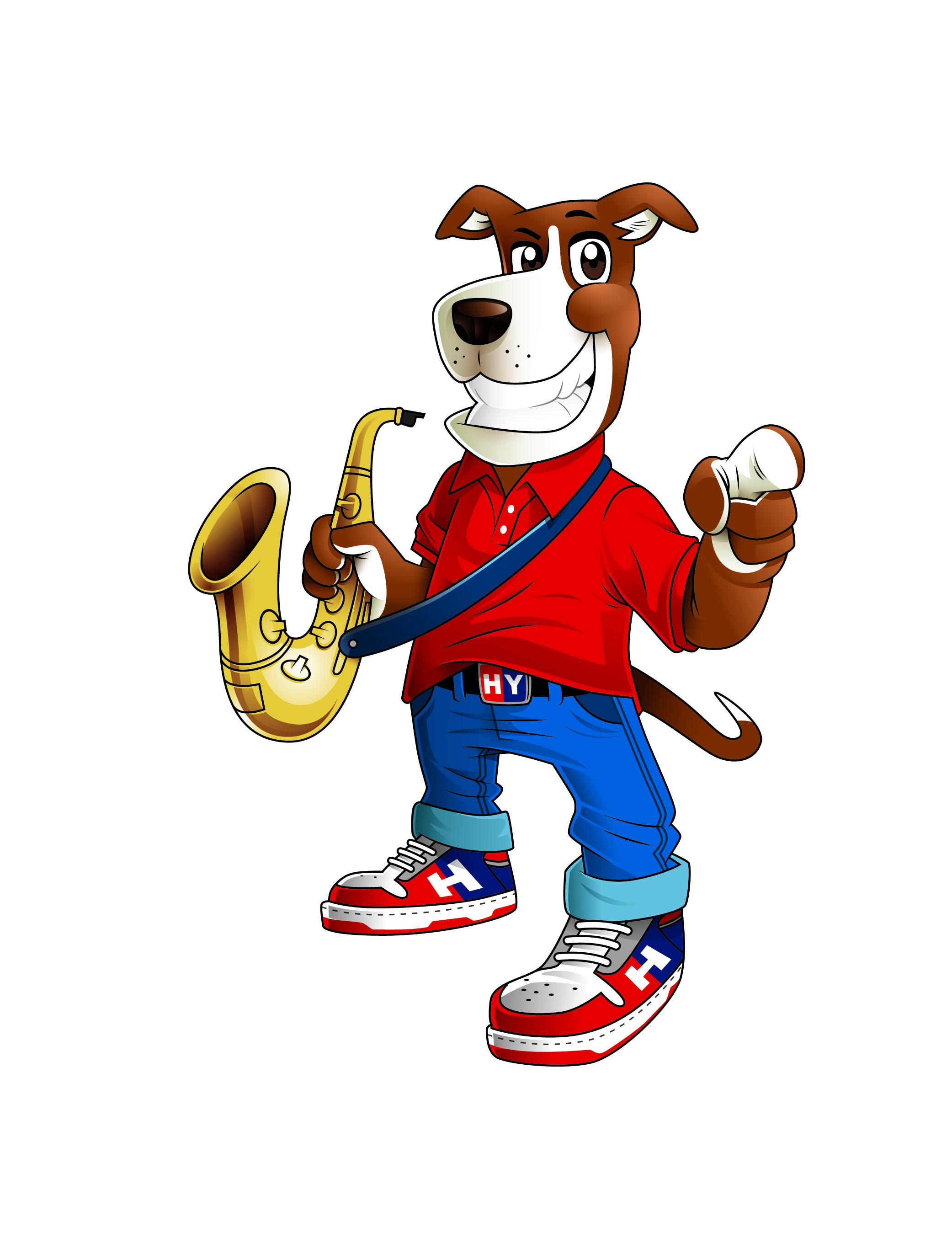 Musician Dog Mascot