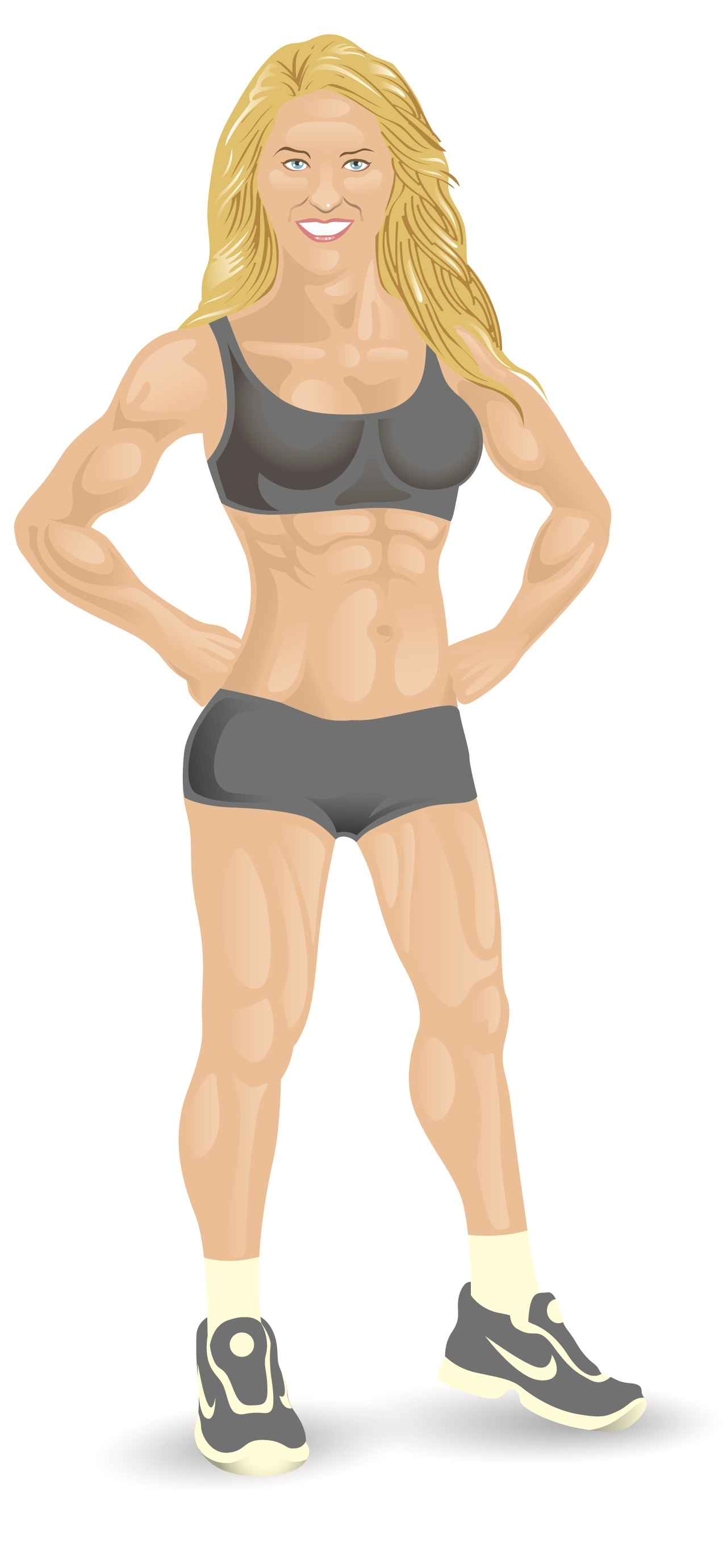 Female Physical Fitness Trainer Mascot