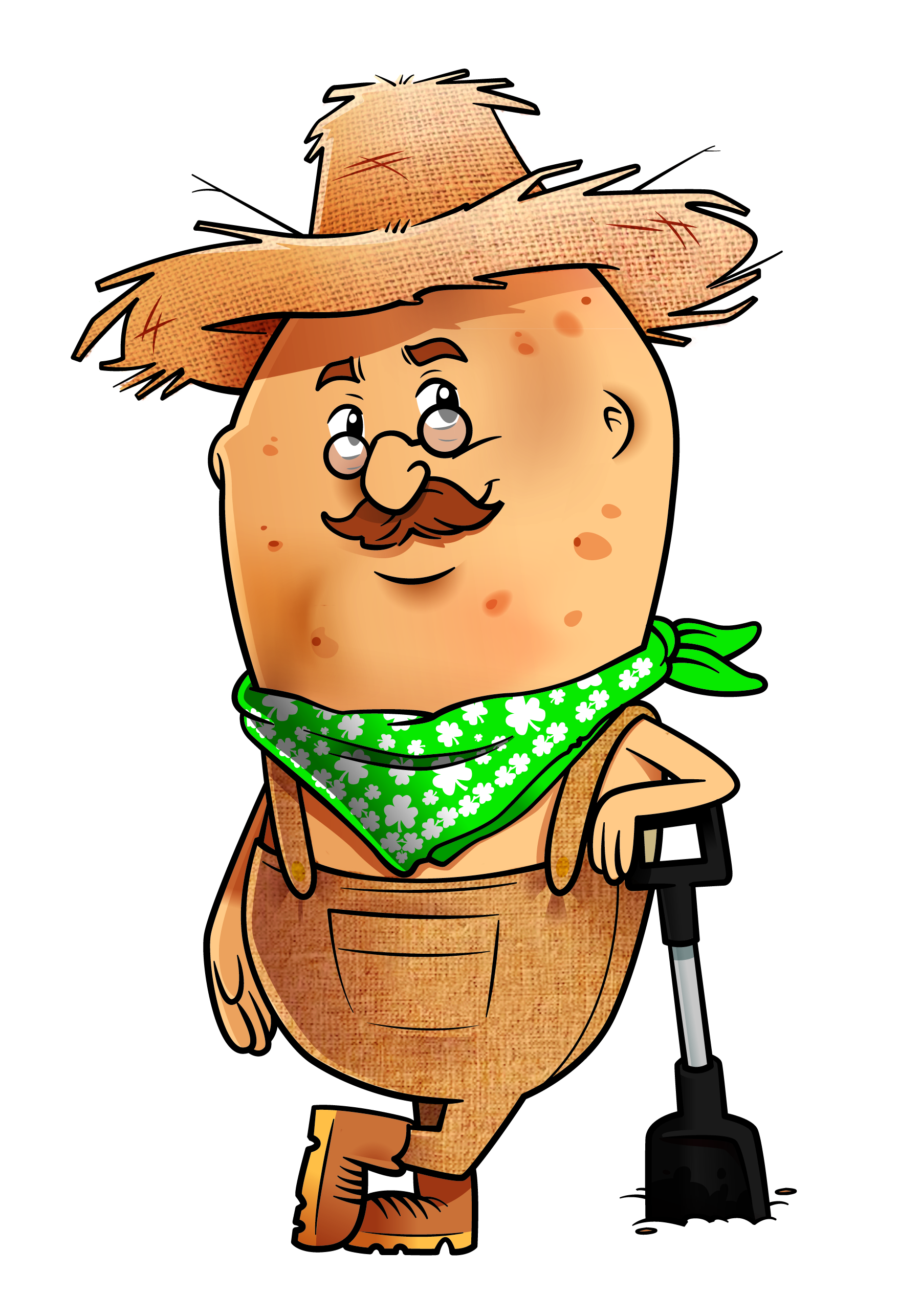 Potato Farmer Mascot