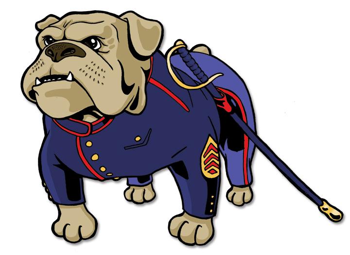 Military Bulldog Mascot