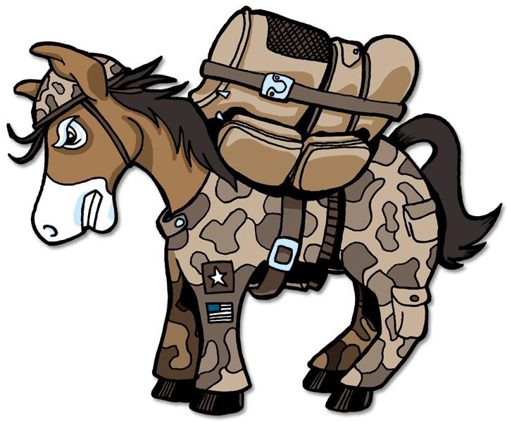 Military Donkey Mascot