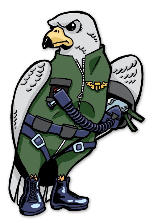 Military Falcon Mascot