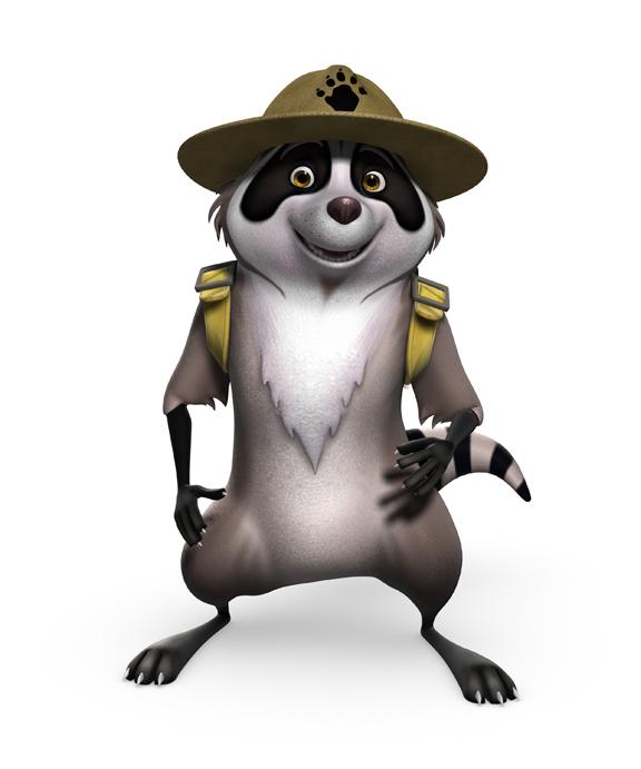 Ranger Raccoon Mascot