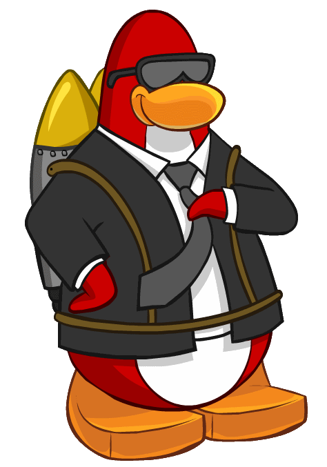 Red Penguin Mascot