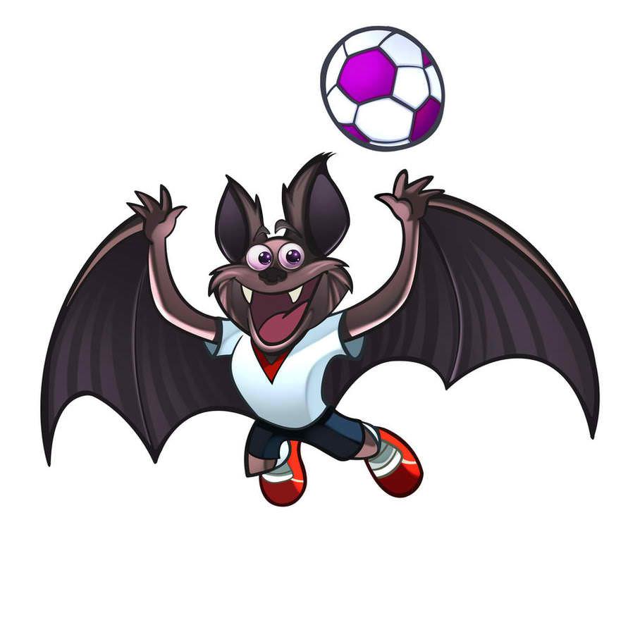Football Bat Mascot
