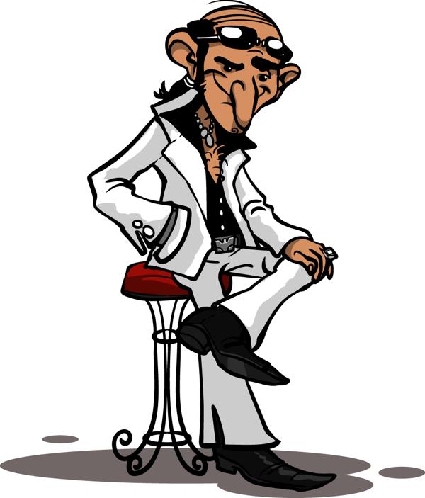 Mafia Man Mascot