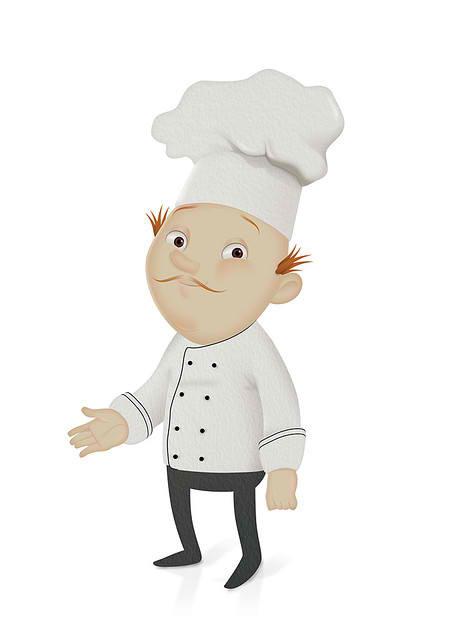 Shy Chef Mascot