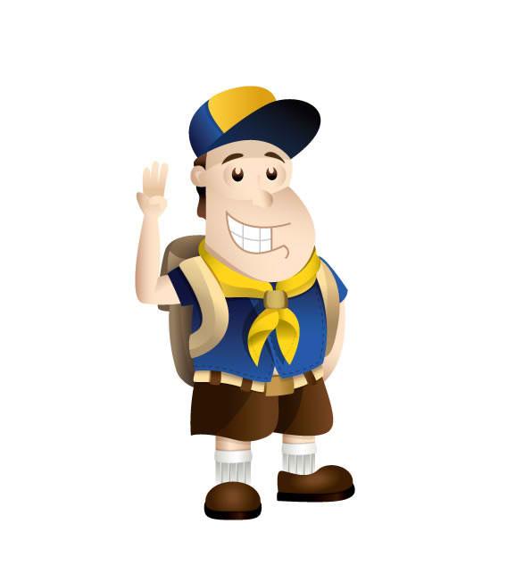 Boy Scout Mascot