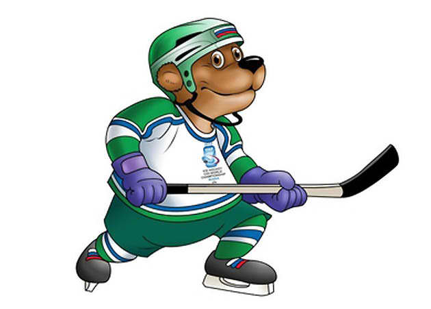 Ice Hockey Bear Mascot