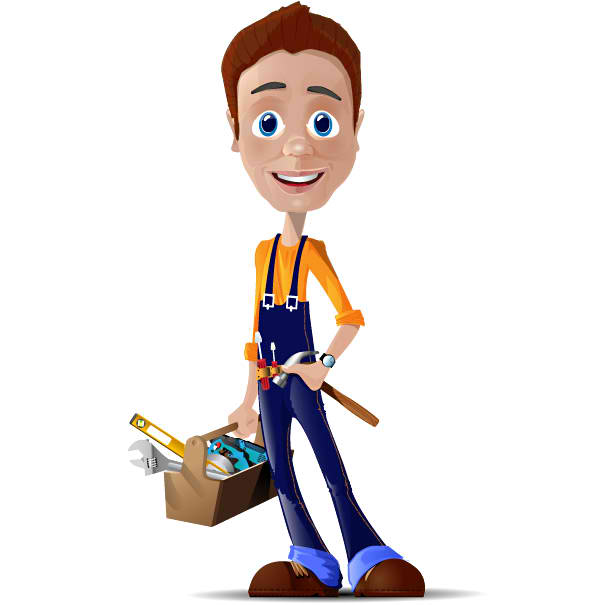 Mr. Repair Man Mascot