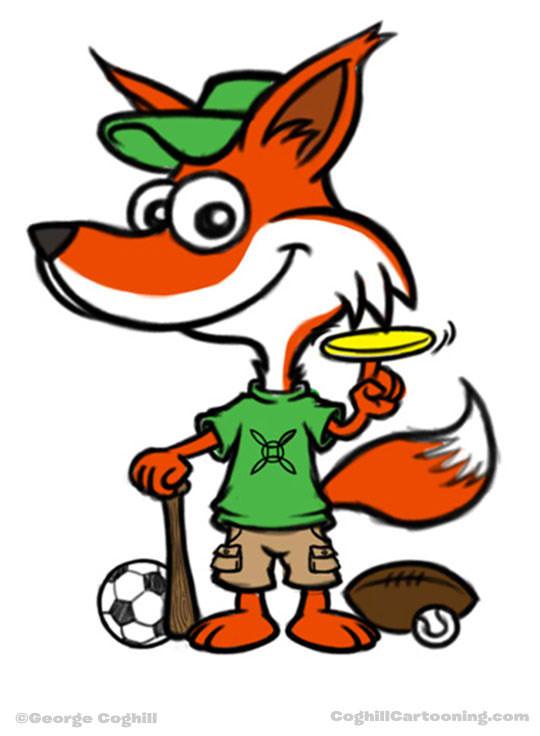 Sporty Fox Mascot
