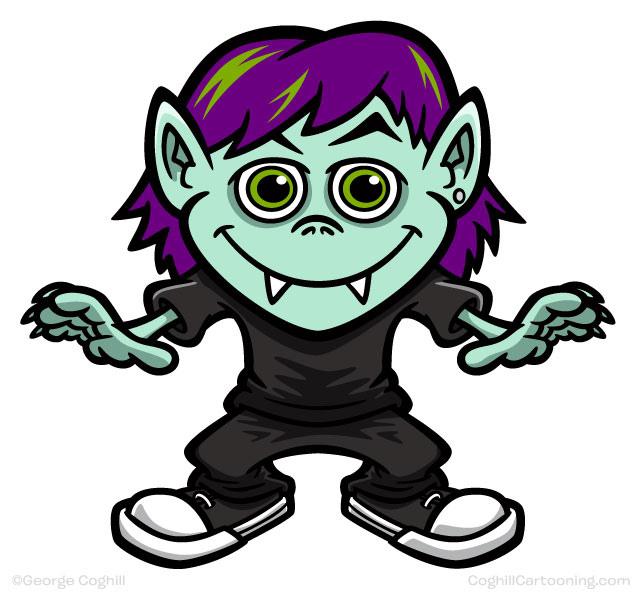 Vampire Kid Mascot