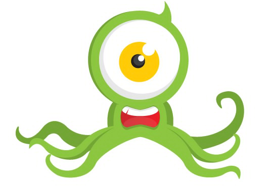 Octopus Alien Mascot