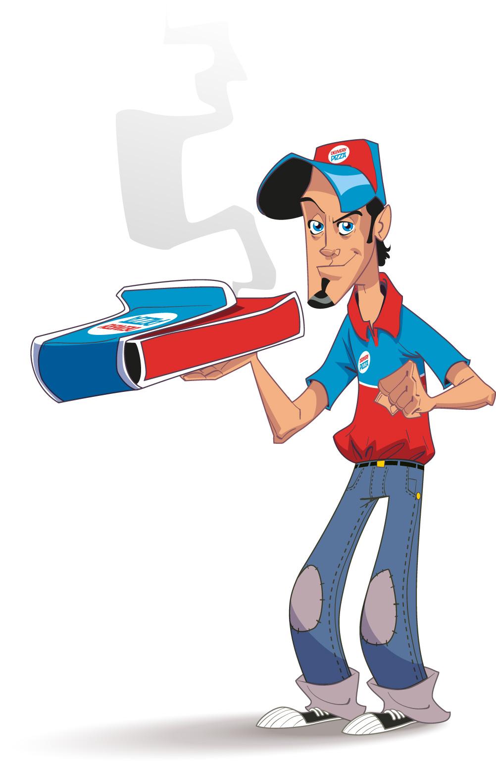 Pizza Boy Mascot