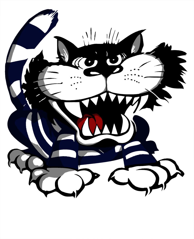 Angry Black Cat Mascot