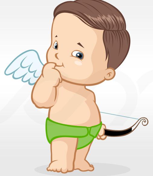 Baby Angel Mascot