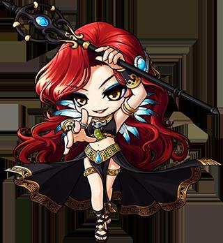 Female Dark Magician Mascot