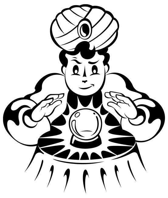 Fortune Teller Mascot