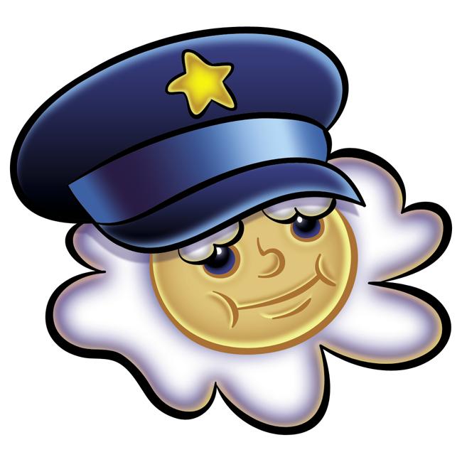 Police Cloud Mascot