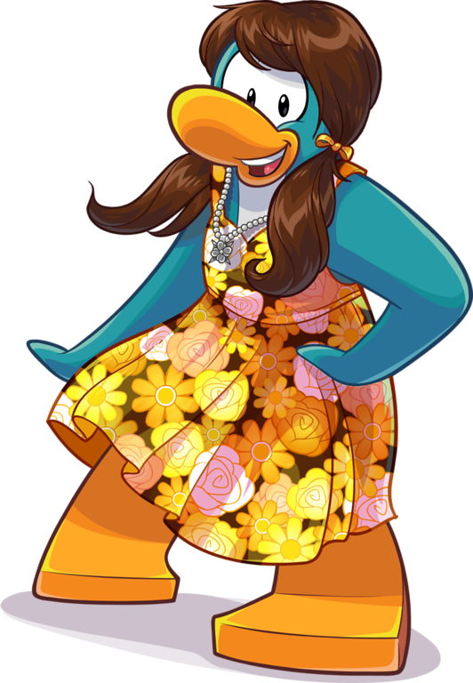 Girly Duck Cartoon Mascot