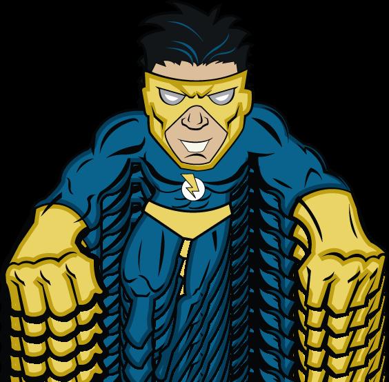 Super Villain Blue Mascot