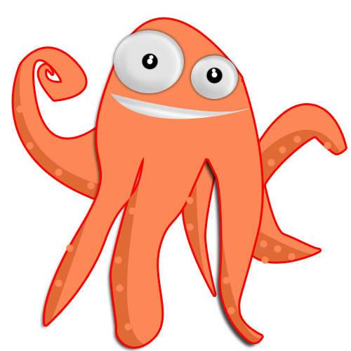 Funny Octopus Mascot