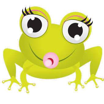 Cute Photogenic Frog Mascot