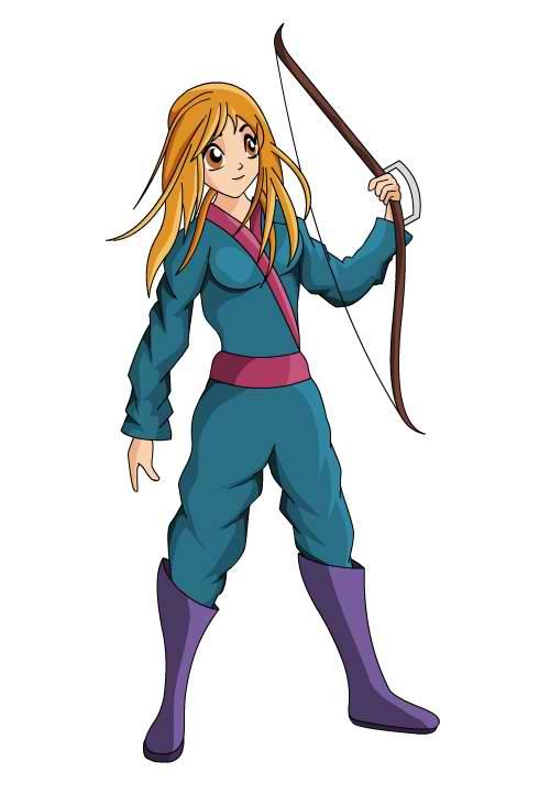 Female Archer Mascot