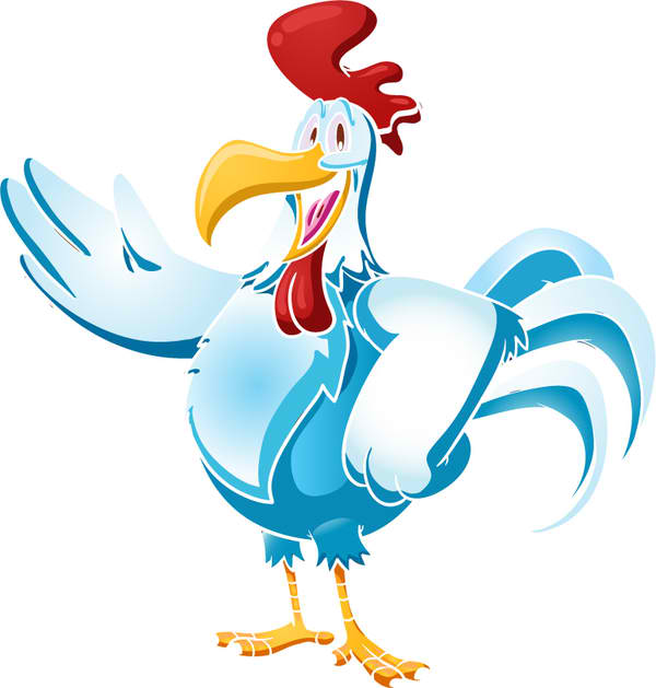 Lively Rooster Mascot