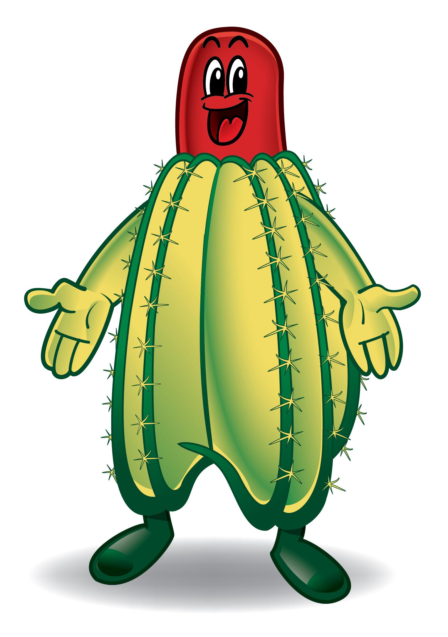 Happy Cactus Mascot