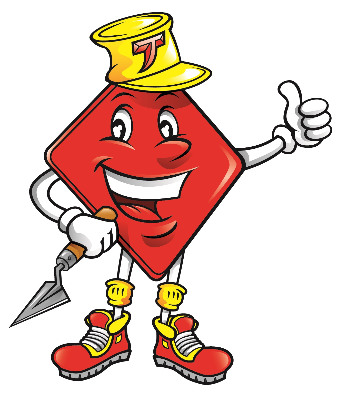 Red Tile Mascot