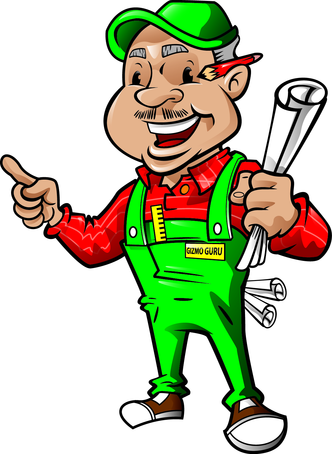 Wood Work Builder Mascot