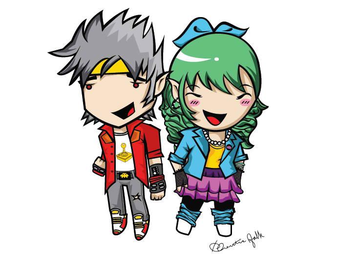 Retro Couple Mascot