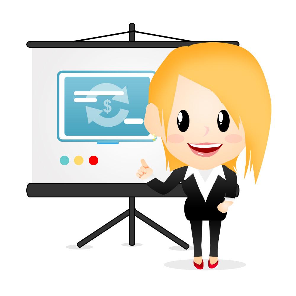 Female Reporter Mascot