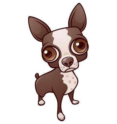 Big Eyes Chiwawa Mascot