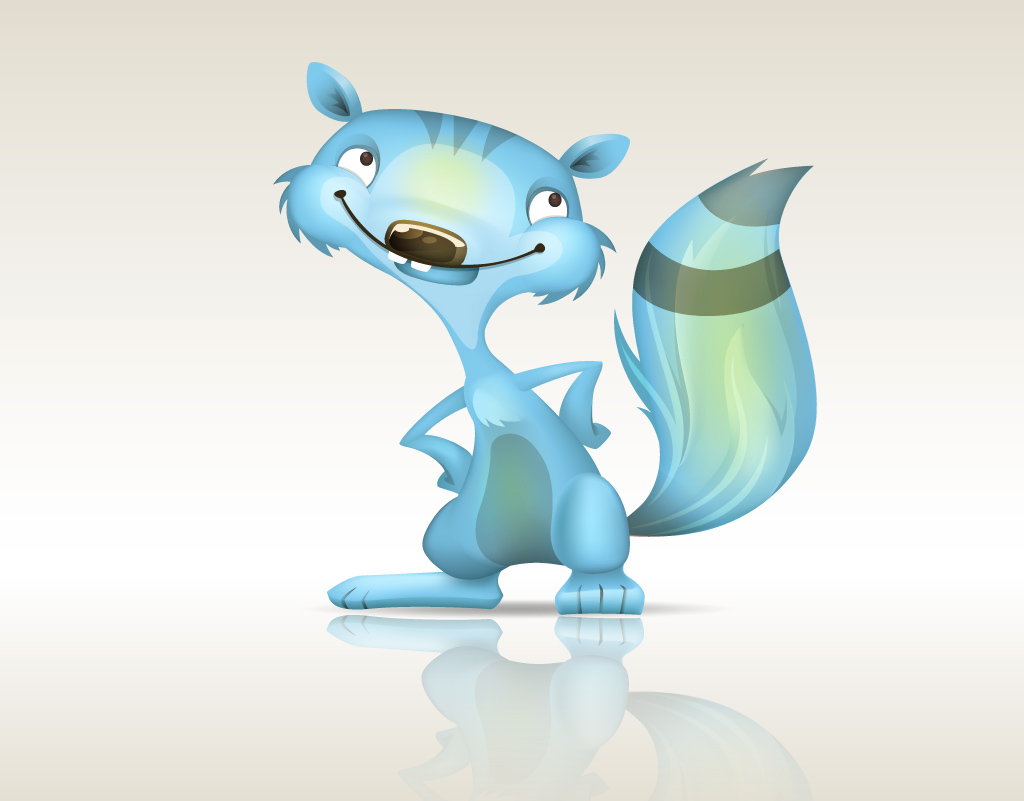 Blue Squirrel Mascot