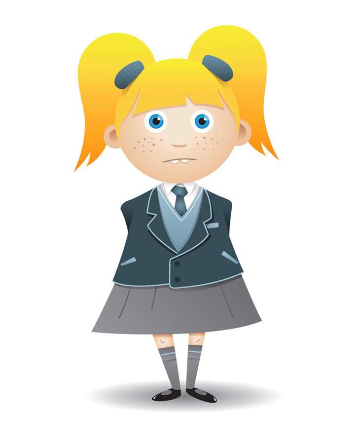 Female Student Mascot