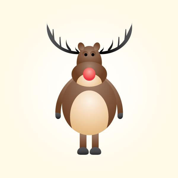 Standing Reindeer Mascot