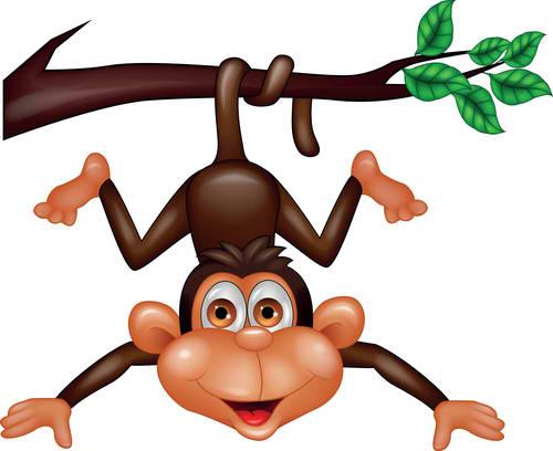 Climbing Monkey Mascot