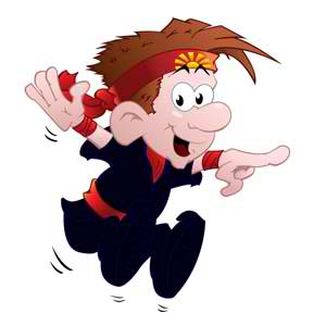 Kung Fu Boy Mascot