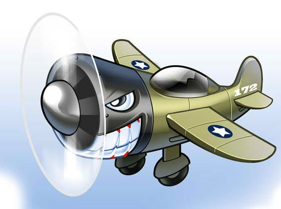 Fighter Plane Mascot