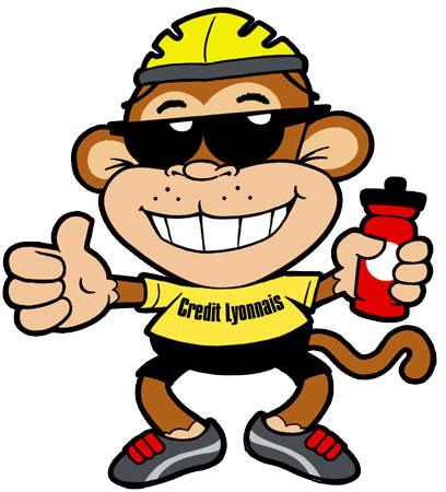 Biker Monkey Mascot