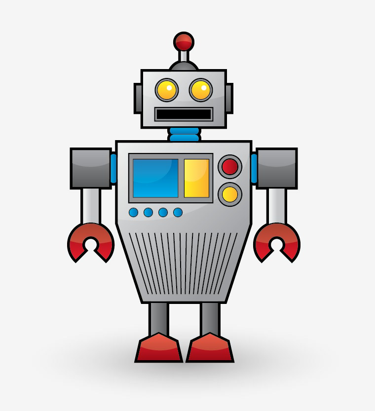 Vintage Robot Mascot
