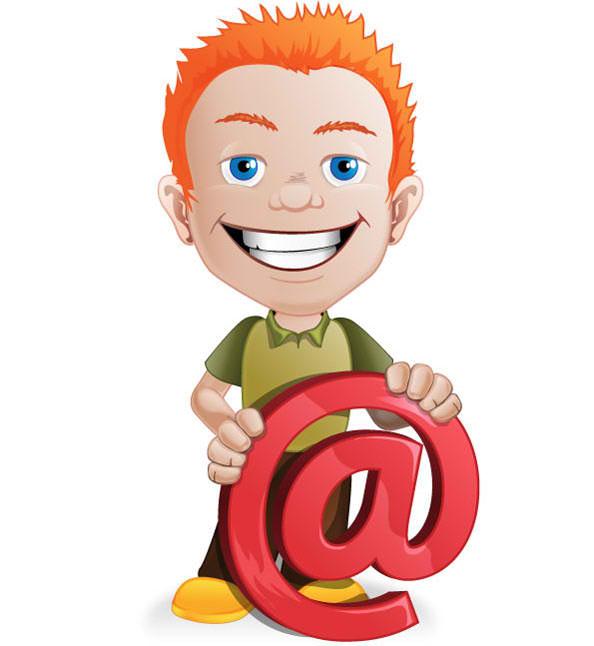 Email Boy Mascot